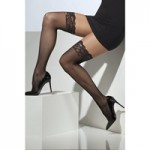 Ciorapi Fever Fishnet Hold-Ups negri